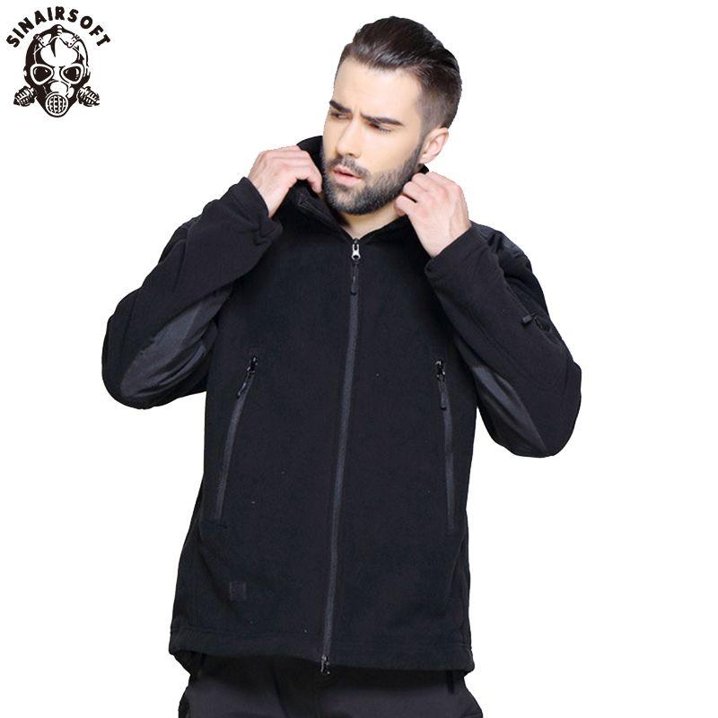 Veste d'hiver militaire tactique en plein air doux Shell polaire veste chaude hommes Sportswear armée polaire thermique chasse Sport