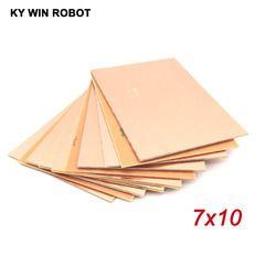 10 pcs FR4 PCB Latérale Unique Copper Clad plate DIY PCB Kit Stratifié Circuit Conseil 7x10 cm