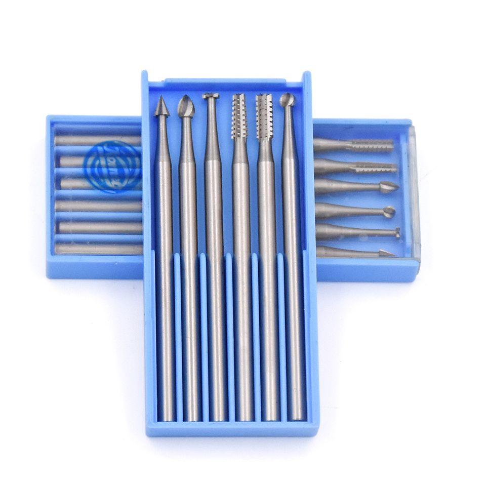 6 pièces fraises rotatives en acier outils abrasifs meules outil rotatif foret pour Dremel outil accessoires perceuse électrique