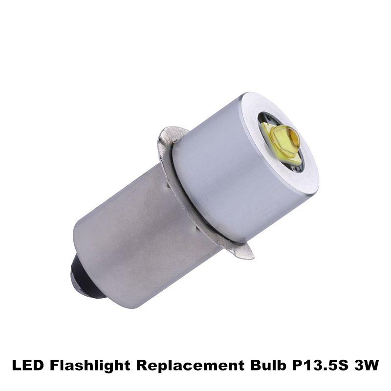 3W P13.5S LED mis à jour ampoules de remplacement pour lampe de poche CREE XPG2 puces LED Kit de Conversion pour C/D lampes de poche torche