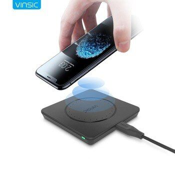 Vinsic Qi Беспроводной Зарядное устройство Беспроводной зарядного устройства для iPhone X 8 8 плюс samsung Galaxy S8 S8 + Примечание 8 Nexus 7 6 Nexus Lumia 920
