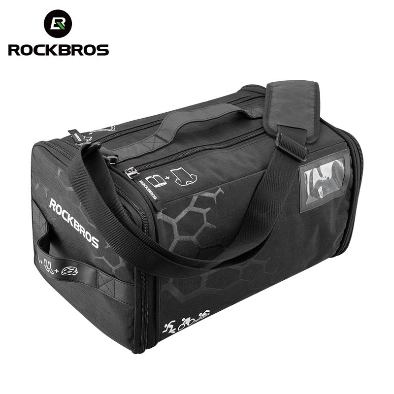 ROCKBROS Cycling Triathlon Gym Race Bag With Rain Cover Waterproof Training Fitness Sports Bag Big Capacity Backpack Handbag