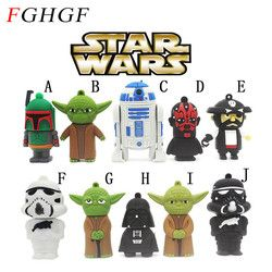 FGHGF vente Chaude de bande dessinée usb flash drive pendrive 4 GB 8 GB 16 GB 32 GB star war robot tous les styles USB 2.0 Pen Drive pendriver u disque