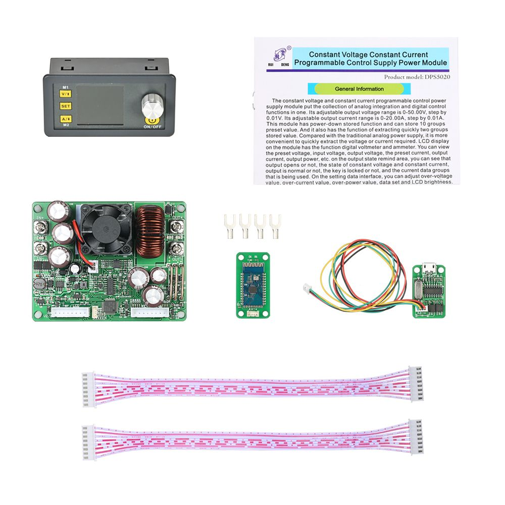 RD DPS5020 Constant Voltage current Step-down communication digital Power Supply buck Voltage converter LCD voltmeter 50V 20A
