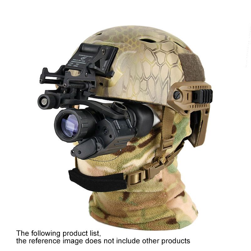 PVS-14 style digital night vision mount on the helmet for rifle scope for hunting/camping black color GZ270008