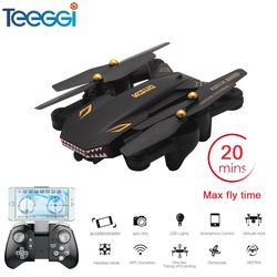 Visuo XS809S Selfie Drone dengan Sudut Lebar 2MP HD Camera Wifi FPV XS809HW Upgrade RC Quadcopter Helikopter Mini Dron