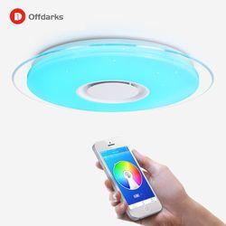 LED люстра потолочная Светодио дный потолочный светильник Цвет изменить светильник потолочный 25 Вт 400 мм удаленного Управление 60 Вт 550 мм зат...