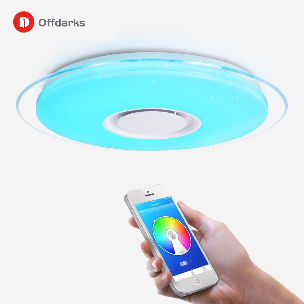 Plafond moderne à LEDs lumière télécommande Dimmable APP contrôle salon chambre Bluetooth haut-parleur plafonnier