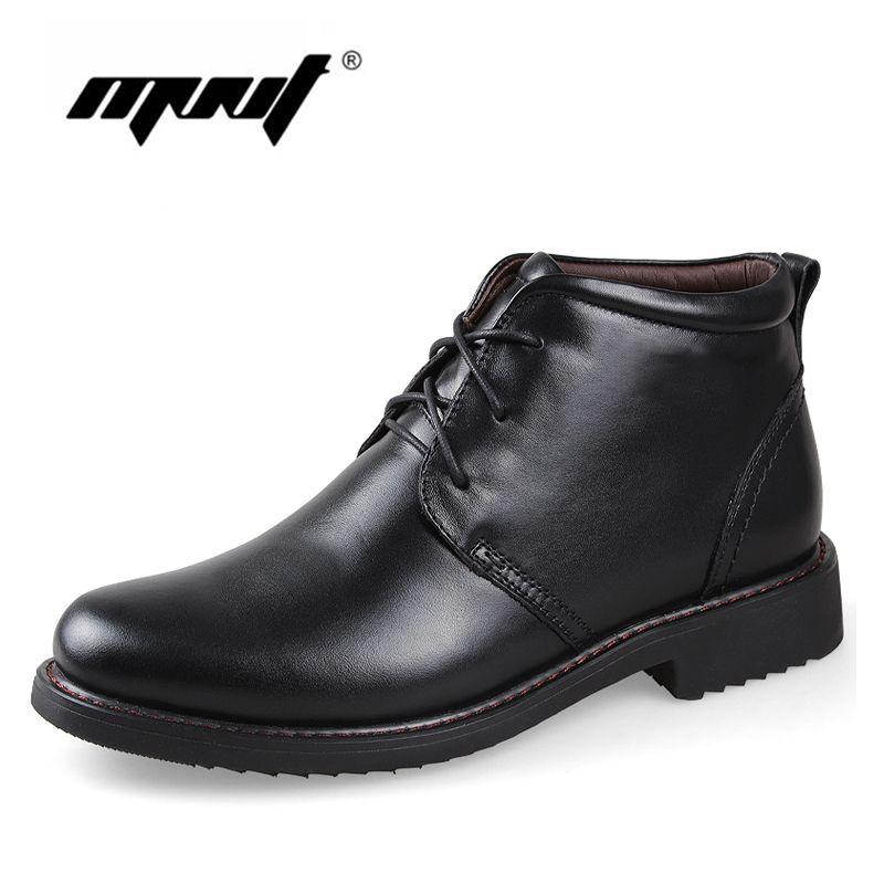 Véritable Cuir Hommes Bottes, Chaussures À La Main Super Chaud Hommes D'hiver, haute Qualité Cheville Bottes Pour L'automne Et D'hiver Chaussures