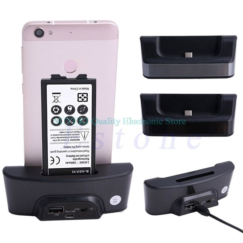Free Shipping Dual USB Cradle Desktop Dock Charging Station Battery Charger Sync OTG For LG G5
