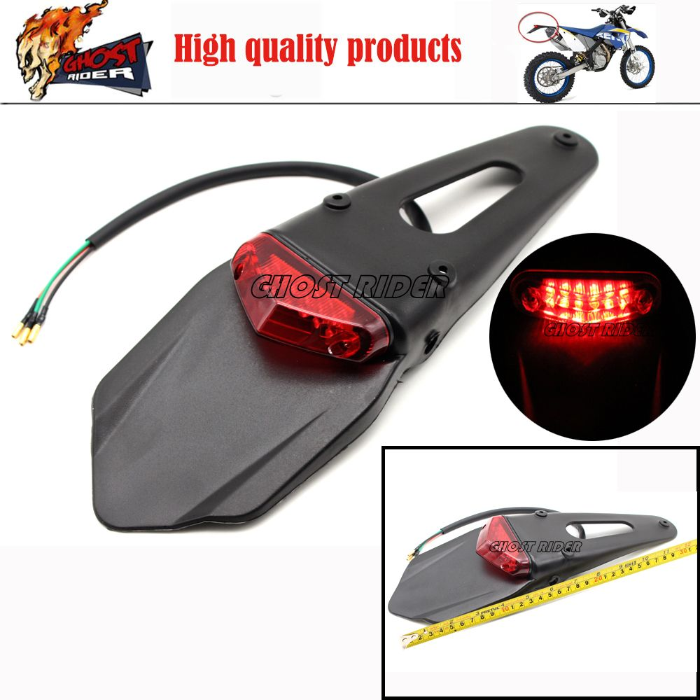 Polisport Motorcycle LED Tail Light&Rear Fender Stop Enduro taillight MX Trail Supermoto KTM CR EXC WRF 250 400 426 450