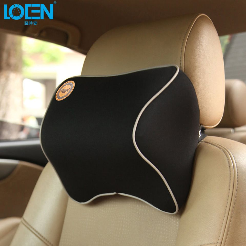 1 PCS Car Pillow Space <font><b>Memory</b></font> Foam Fabric Neck Headrest Car Covers Vehicular Pillow Car Seat Cover Headrest Neck Pillow For Home