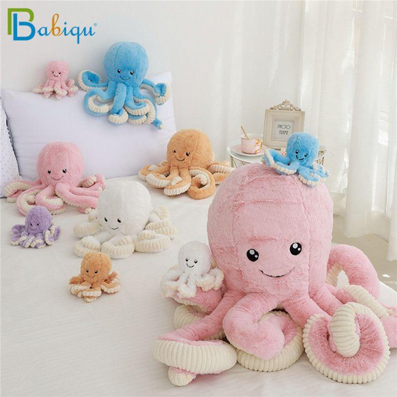 Bébé 40-80 cm poulpe mignon peluche poulpe baleine poupées et jouets en peluche peluche animaux de mer jouets pour enfants enfants cadeau de noël
