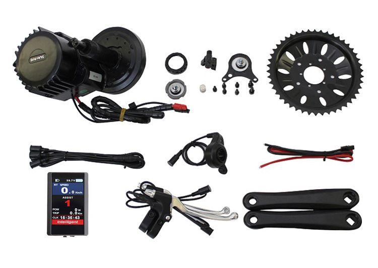 ConhisMotor 48 v 1000 watt BAFANG/8FUN BB90 mm Breite BBS03 BBSHD Ebike Mitte Antrieb Motor Kit mit Farbe 850C oder C961 LCD Display