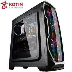 Kotin S13 AMD Gaming Computer Ryzen 5 1600 COLORFUL 1050Ti Desktop Computer 1TB HDD 120G SSD 8G RAM Free RGB Fans PUBG Chicken