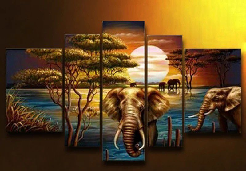 diy 5d diamond painted mosaic over 5D diamond embroidery Southeast Asian landscape elephant diamond cross stitch more pictures