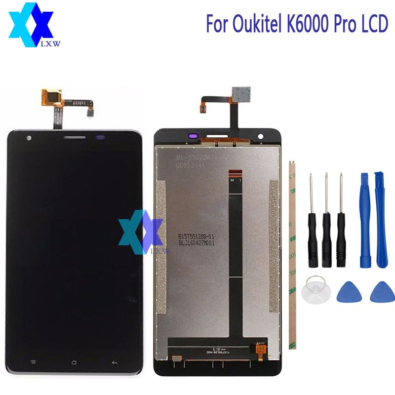 For Original Oukitel K6000 Pro LCD Display+Touch Screen Panel Digital Replacement Parts Assembly 5.5 inch 1920x1080P Stock