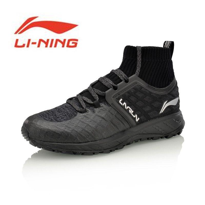 Li-Ning Men LN CLOUD SHIELD 2017 Running Shoes Mono Yarn WATER SHELL Cushion Sneakers Li Ning Sports Shoes ARHM083