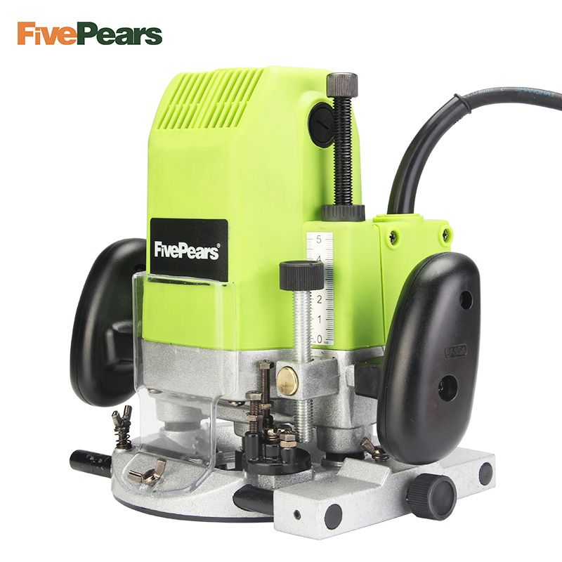 FivePears 6mm 8mm 12mm Electric Router Woodworking Trimmer Router 1850W Trimmer Slot Machine gift 1/2