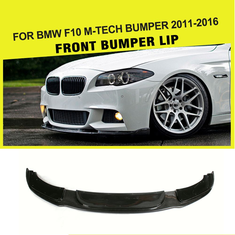 Car-Styling Carbon Fibre Racing Front Lip for BMW F10 550I 528I 535I M Sport Bumpers only 2012-2015