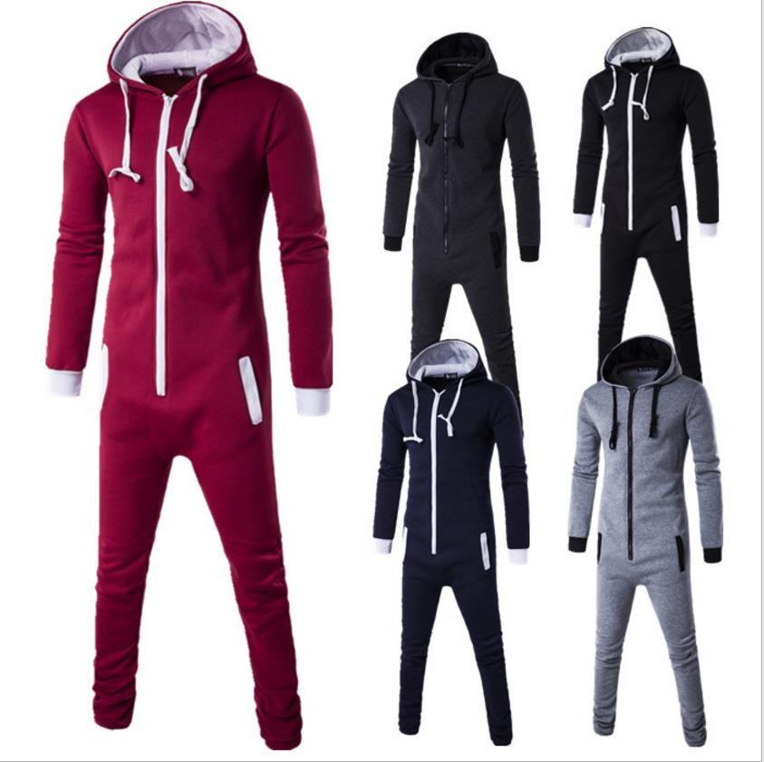 2017 Invierno hombre Plus Size Home Pijamas de Una Pieza Onesie Adultos Mens Mujeres Superman Mono de Dormir HC06DW16