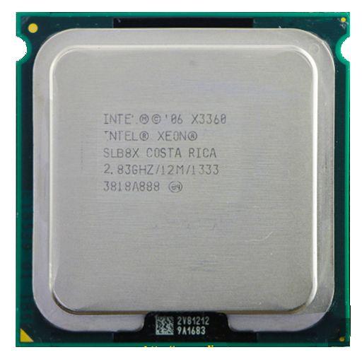 Intel xeon X3360 Quad Core 2.83 GHz LGA 775 95 W 12 M Cache Serveur CPU livraison gratuite