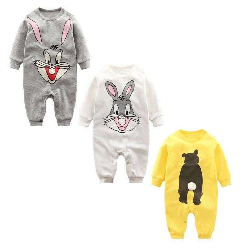 Модные осень-зима Infantil комбинезон для новорожденных одежда для малышей с длинными рукавами принт детский комбинезончик хлопка Обувь для ма...