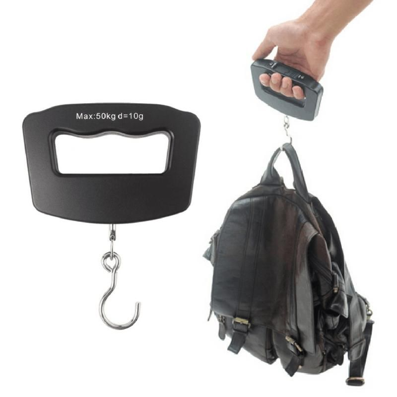 Portable 50KG/10G Electronic Scales Digital Hand Weighing Travel Luggage Hook Package Display Balance