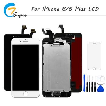 1 PCS/Lot Full set LCD Display For iPhone 6 6 plus LCD Touch Screen with Digitizer Assembly with Home Button & Front Camera