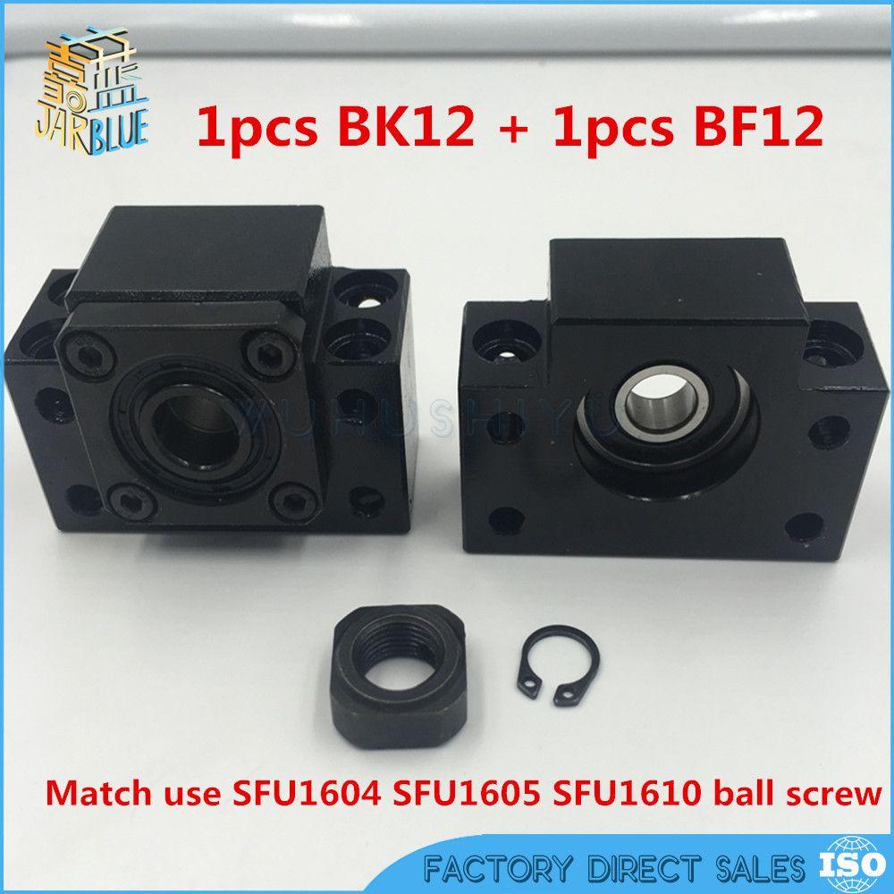 Freies verschiffen BK12 BF12 Set: ein pc von BK12 und einem pc BF12 für SFU1605 Ball Schraube Ende Unterstützung CNC teile