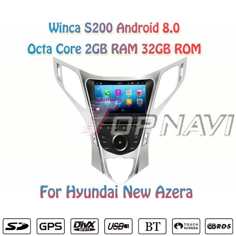 Topnavi Octa Core S200 Android 8.0 Auto DVD-Multimedia-Player für Hyundai neue Azera Radio Stereo 2DIN GPS Navigation In Dash wifi