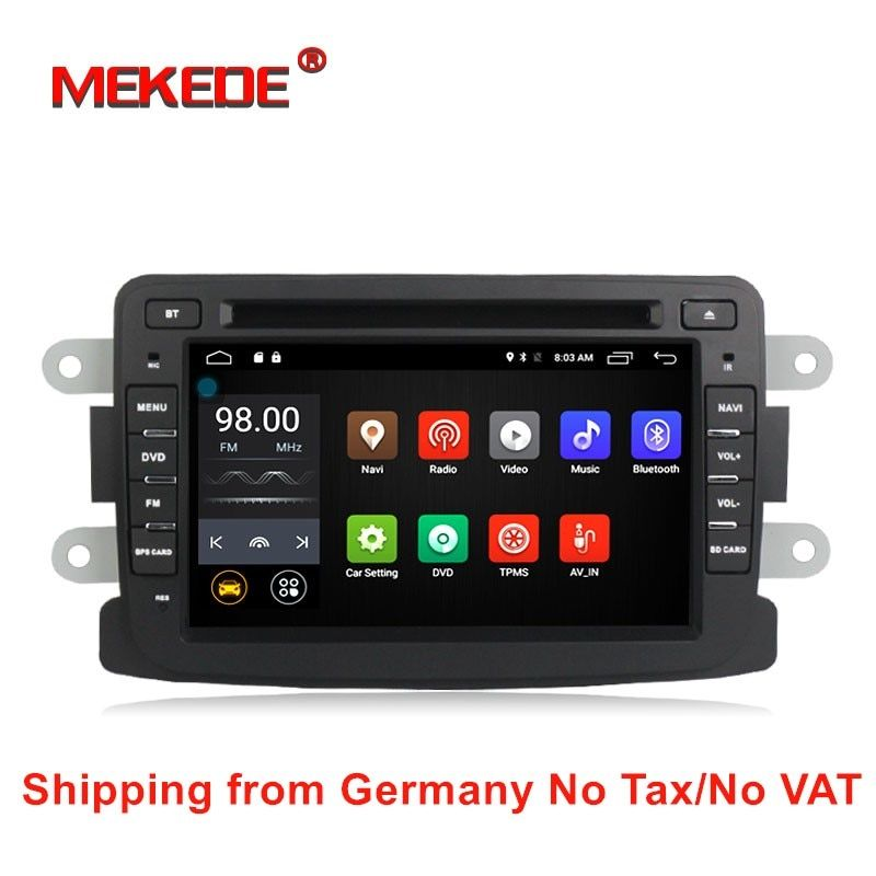 free shipping Quad Core Android 7.1 4G lte GPS Navigation For Dacia Renault Duster Logan Sandero Lada/Xray car radio stereo