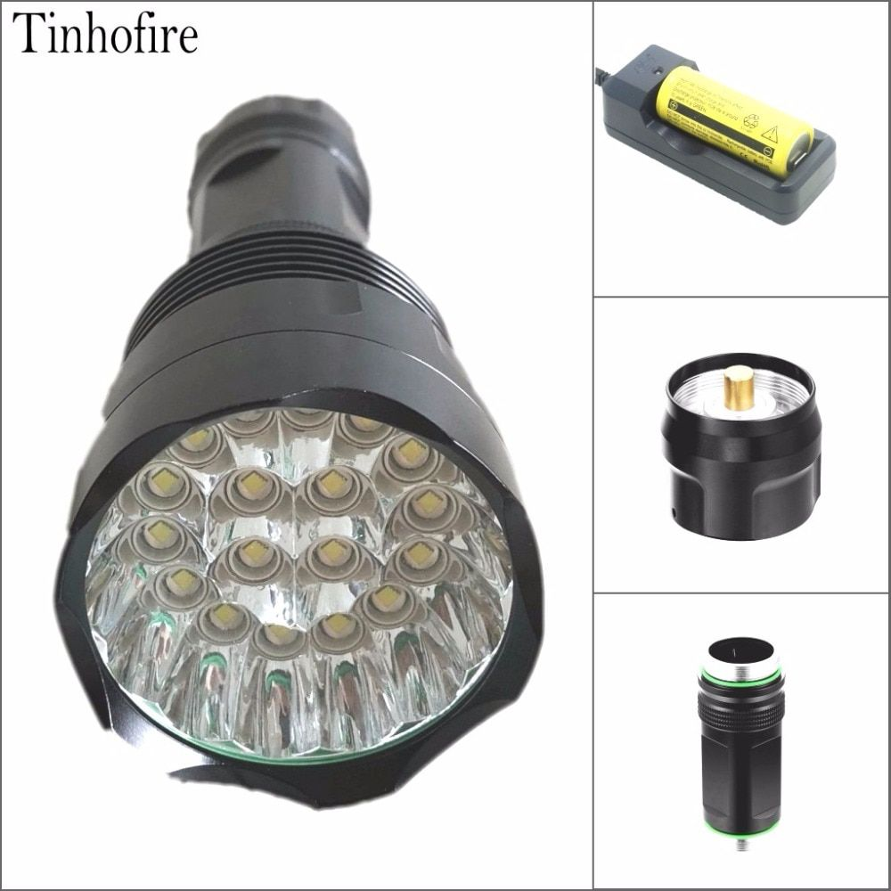 Tinhofire T18 30000LM Super Bright 18 x CREE XM-L T6 LED LED Flashlight 18650/26650 Portable Torch Hunting Light Lamp Lantern