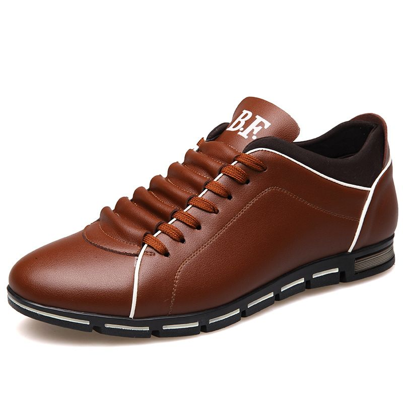 Plus size 37-48 Brand Men Shoes England Trend Casual <font><b>Leisure</b></font> Shoes Leather Shoes Breathable For Male Footear Loafers Men's Flats