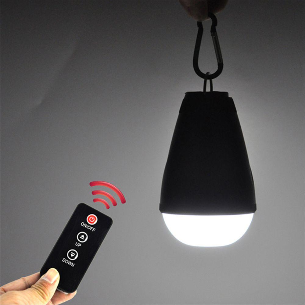 BORUIT 3 Modes Portable LED Lanterne Télécommande Rechargeable Lampe de Camping En Plein Air Étanche Tente Lumière