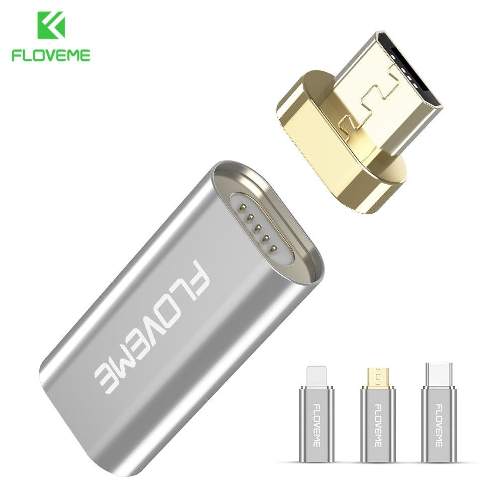 FLOVEME Micro USB zu Typ C/Für Apple iPhone/Micro Magnetic Ladekabel Adapter Für Android/iPhone Handy Magnet Adapter