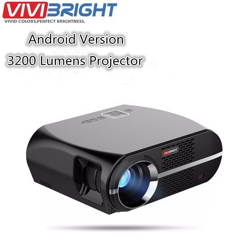 VIVIBRIGHT gp100 Android 6.0.1 светодиодный проектор до 1280x800 Разрешение 3200 люмен встроенный WI-FI Bluetooth DLAN Miracast alirplay