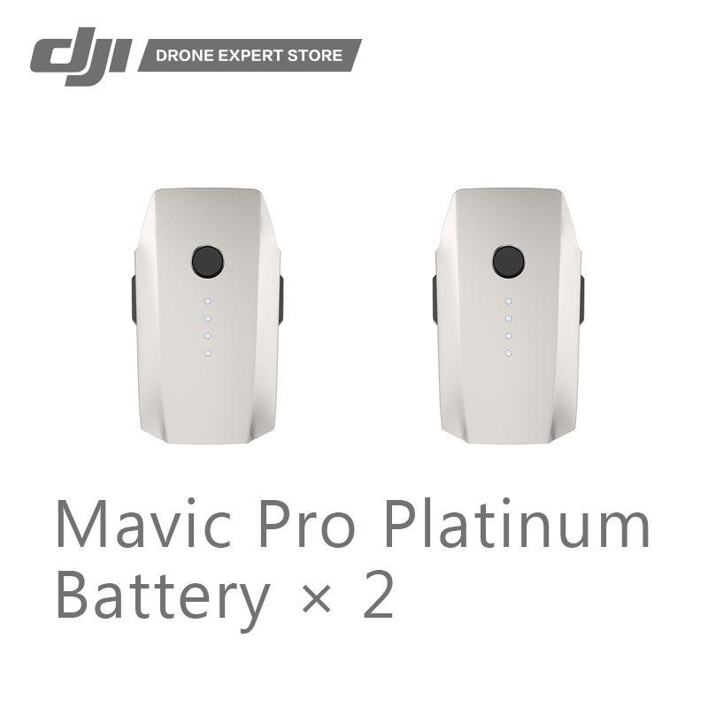 2pcs/set DJI Original Mavic Pro Platinum Intelligent Flight Battery 3830 mAh 11.4 V Provide 30min Flight Time Free Shipping