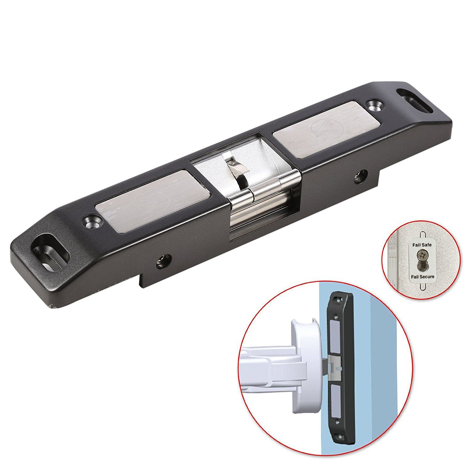 OBO HANDS Electric Strike Lock For Push Panic Bar Exit Device Emergency Door Fail safe/Fail Secure Mode Exchangeable Lock