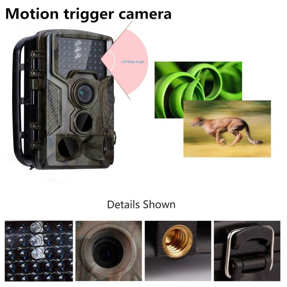 16MP Wild Camera Photo Traps 0.6S Trigger motion detection Trail Camera 1080P with 3 lens Trail Surveillance Camera hidden