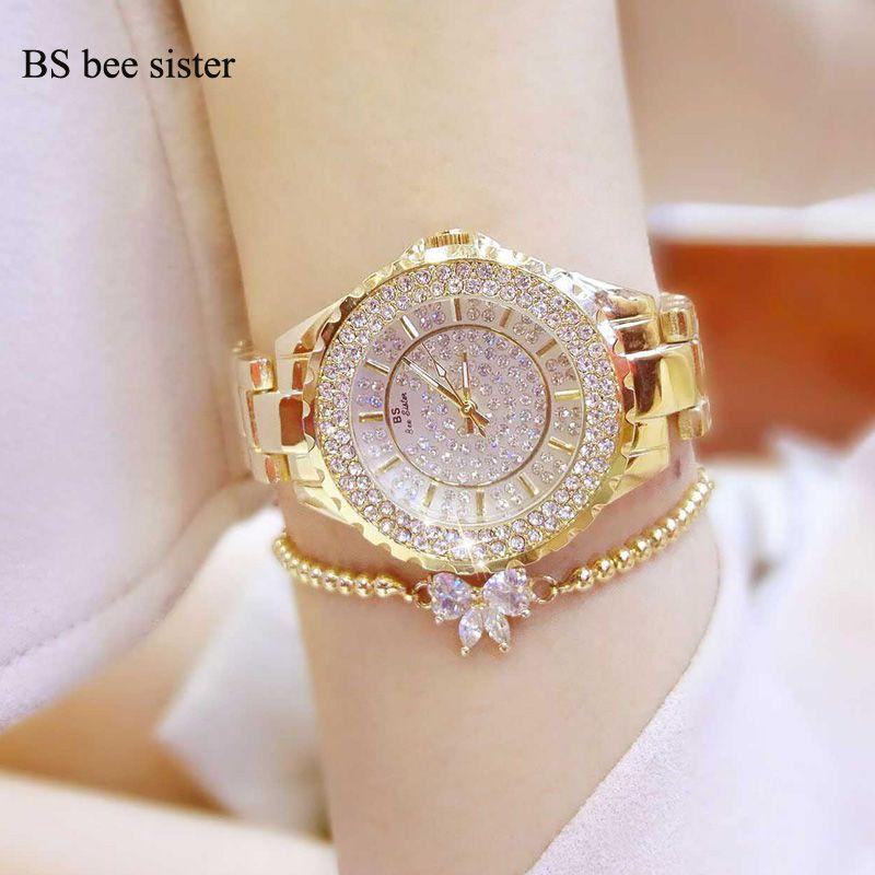 Бренд Для женщин браслет Часы модные роскошные любителей горный хрусталь наручные часы дамы кристалл платье кварцевые часы Montre Femme