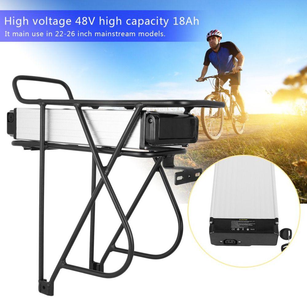 V Brake 48V 18AH 1KW E-Bike Bicycles Mountain Bikes Rear Rack Replacement Battery Li-Ion Battery Conversion Kit EU Plug