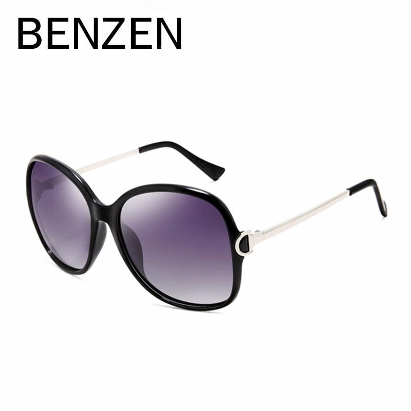 Бензола солнцезащитные очки Для женщин поляризованный UV 400 Брендовая Дизайнерская обувь негабаритных солнцезащитные очки Женские Óculos де з...