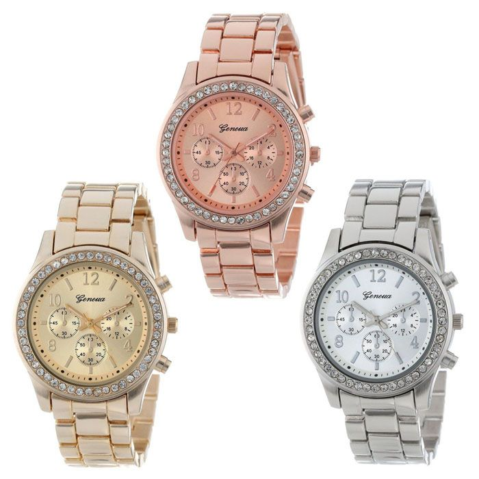 Luxury Fashion Geneva Brand Casual Men Women Dress Quartz Wristwatch Relogio Feminino 2017 Women watch relogio digital