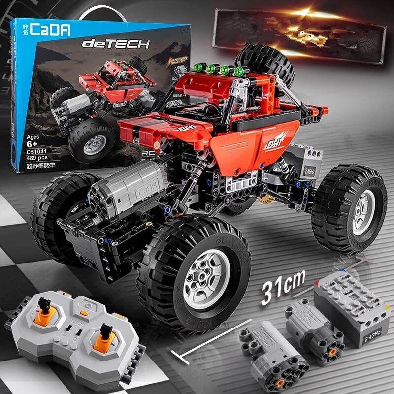 489 pcs Technique Série RC Modèle De Voiture de sport de voiture SUV DIY Building Block Briques Voiture Jouets Pour Enfants Compatible avec legoed