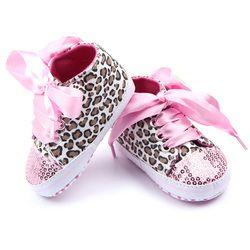 Enfant Bébé Filles Chaussures Floral Léopard Sequin Infantile Semelle Souple Première Walker Coton Chaussures