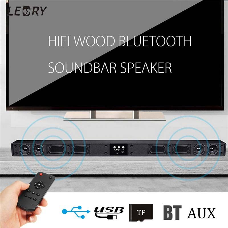 Wireless Bluetooth Soundbar Speaker 4 Horn HIFI 5.1 Sound Bar Virtual Surround Sound Full-range Speaker Remote Home TV Theater