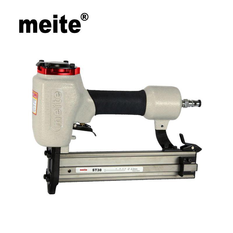 Meite ST38 14 GA professional pneumatic nailer tools portable air concrete nail gun for nailing trunking n skirting Jan.3rd