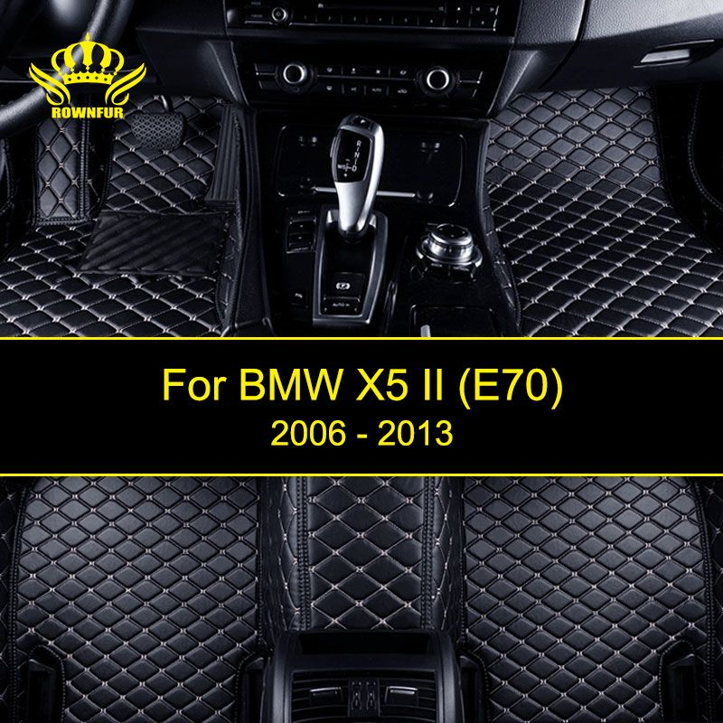 ROWNFUR Car Floor Mats For BMW X5 E70 2006-2010 Years Protect Clean Waterproof Leather Floor Mats Auto Interior Car Carpet Mat