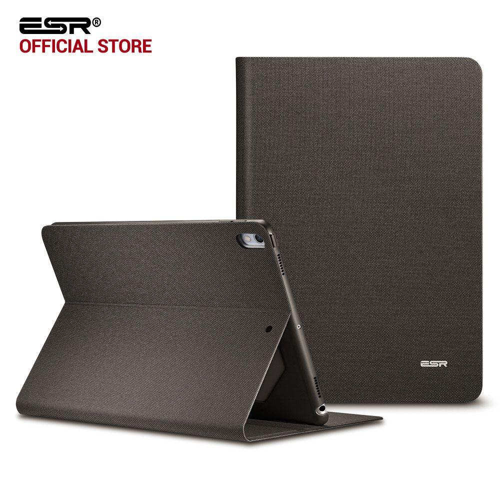 Étui pour ipad Pro 10.5, ESR simplicité Oxford tissu PU cuir couverture intelligente Folio Stand Style décontracté étui pour ipad Pro 10.5 pouces